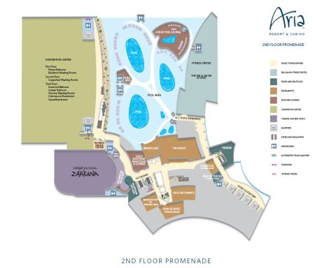 Aria Property Map Las Vegas Maps