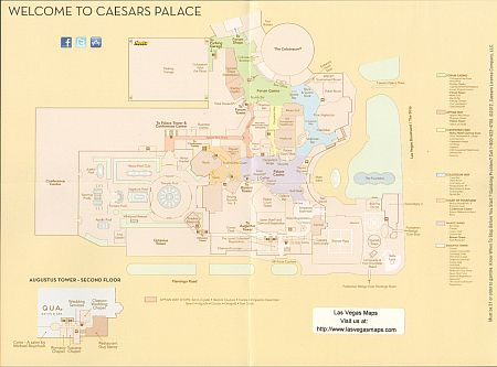 Map Of Caesars Palace Caesars Palace Property Map   Las Vegas Maps