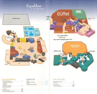 Excalibur Hotel Las Vegas Map.Excalibur Property Map Las Vegas Maps