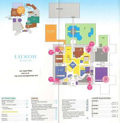 Luxor Property Map Las Vegas Maps