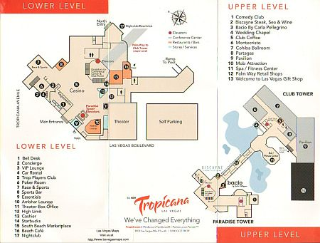 Tropicana Property Map Las Vegas Maps